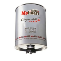 Molinari 5 Звезд,кофе в зернах (3кг)жестяная банка